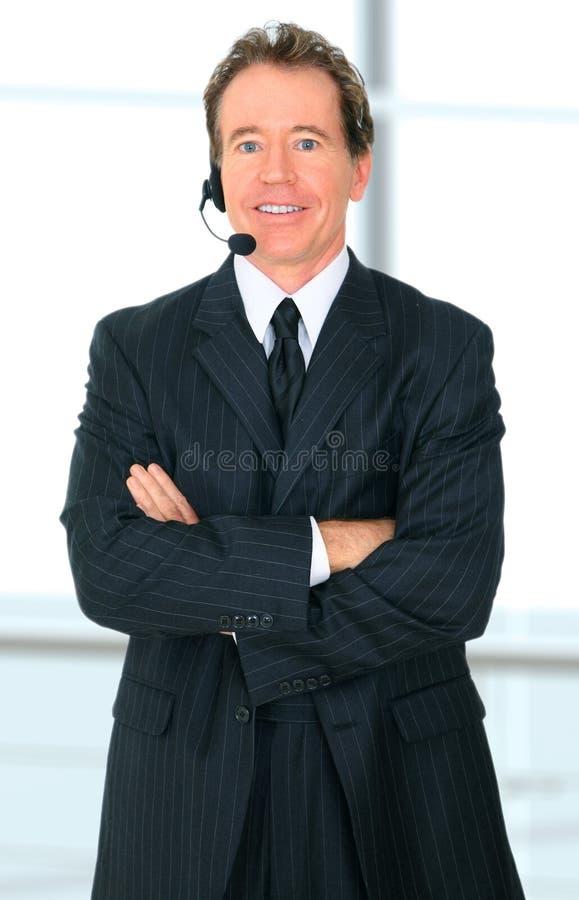 czekanie klienta szczęśliwy starszej usługa czekanie zdjęcia royalty free