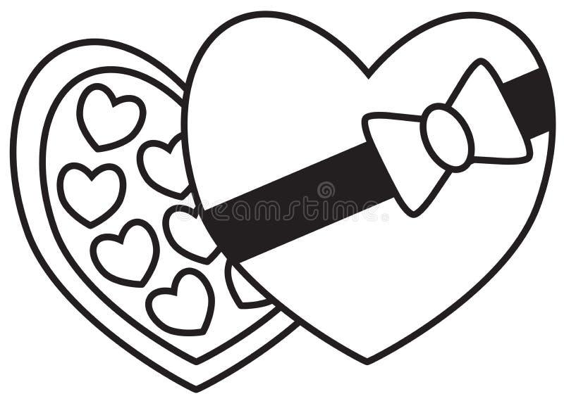 Czekolad czekolady, pudełko, trufle lub bonbons i, ilustracja wektor