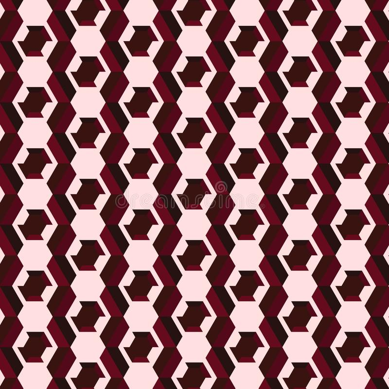 Czekolada barwił i światło - różowy sześciokąta wzór royalty ilustracja