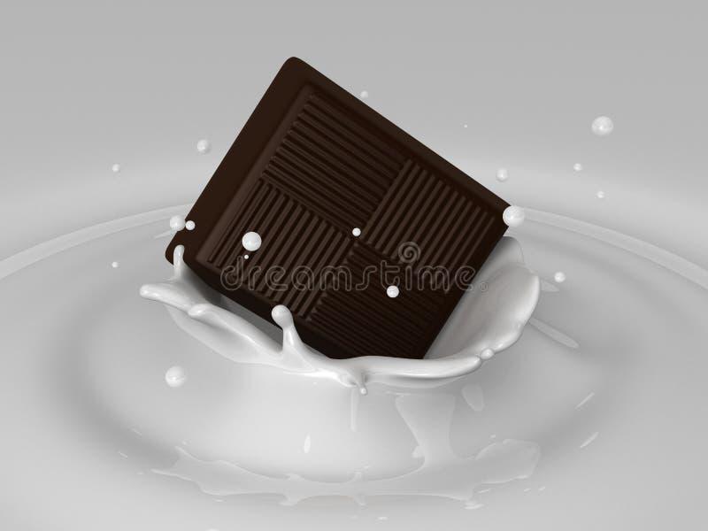 czekolada ' last splash ' ilustracji