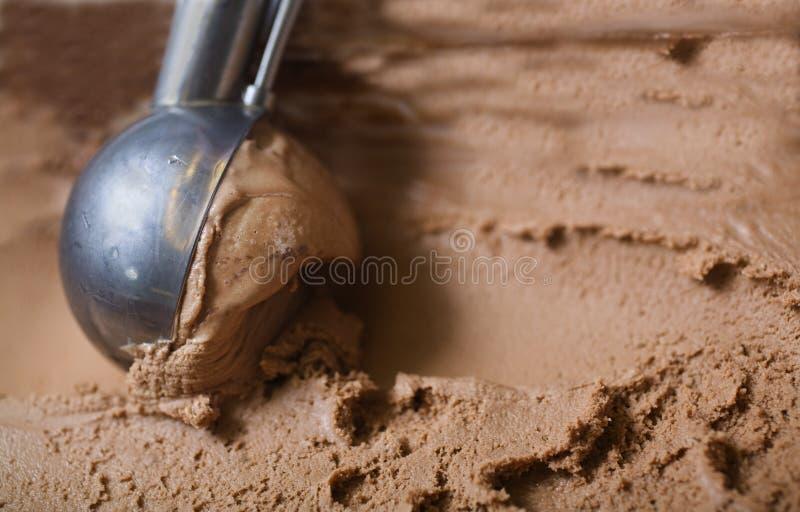 czekoladowa śmietanki lodu miarka zdjęcie stock