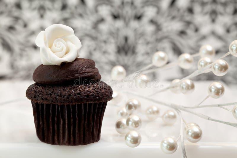 czekoladowa babeczka zdjęcia stock