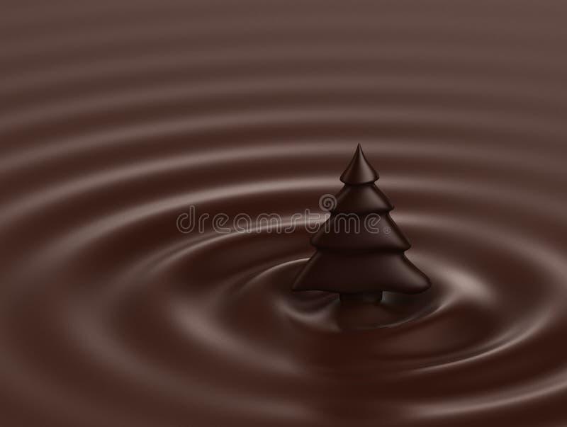czekoladowa choinka royalty ilustracja