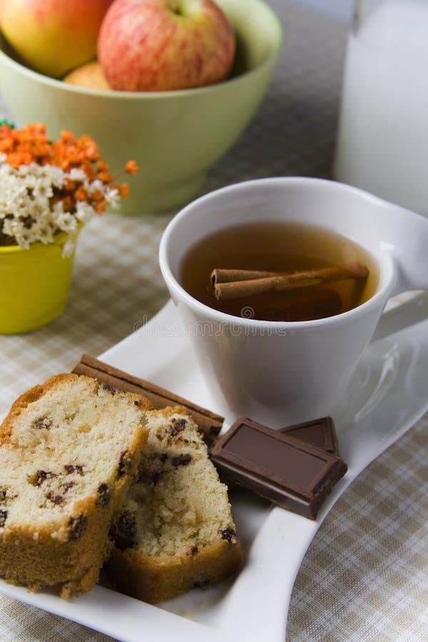 czekoladowa cynamonowa herbata zdjęcia royalty free