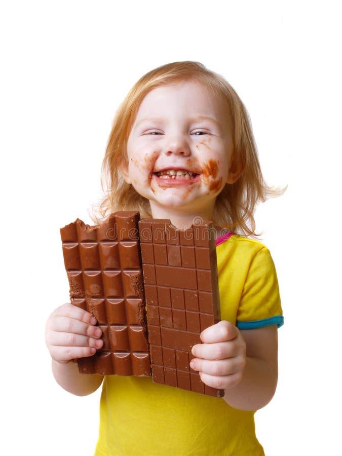 czekoladowa dziewczyna fotografia royalty free