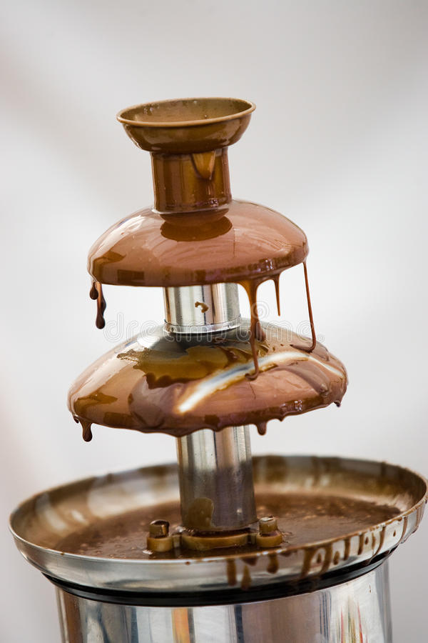 czekoladowa fontanna obraz royalty free