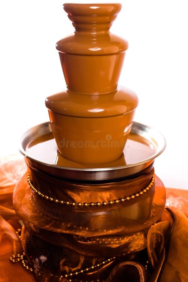 czekoladowa fontanna fotografia stock