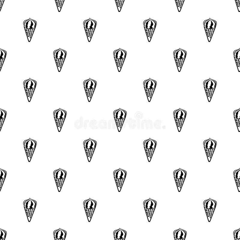 Czekoladowa lody ikona, konturu styl royalty ilustracja