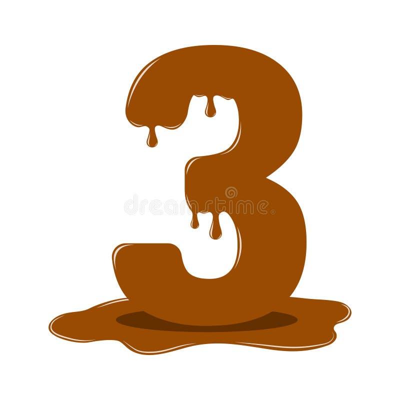 Czekoladowa postać trzy Wektorowe czekolad postacie obraz stock
