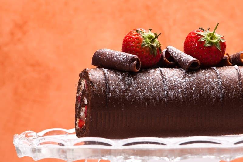 czekoladowa rolka obrazy stock