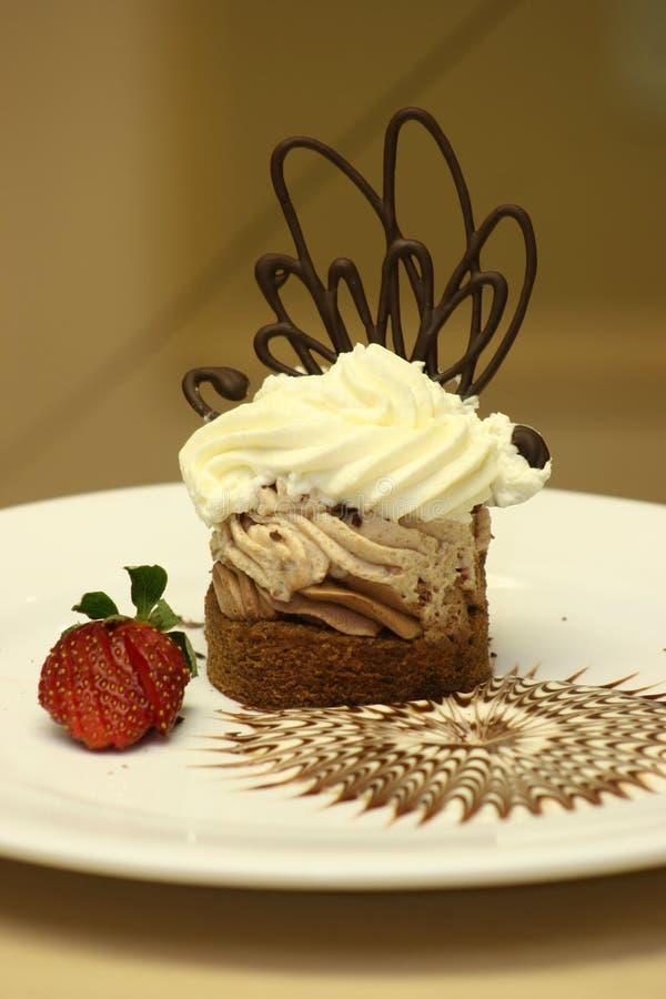 czekoladowa tortowa śmietany zdjęcie stock