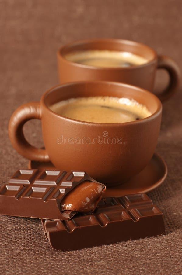 czekoladowe filiżanki zdjęcie stock