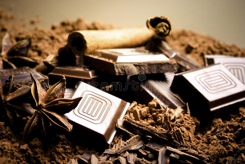 czekoladowe pikantność fotografia royalty free