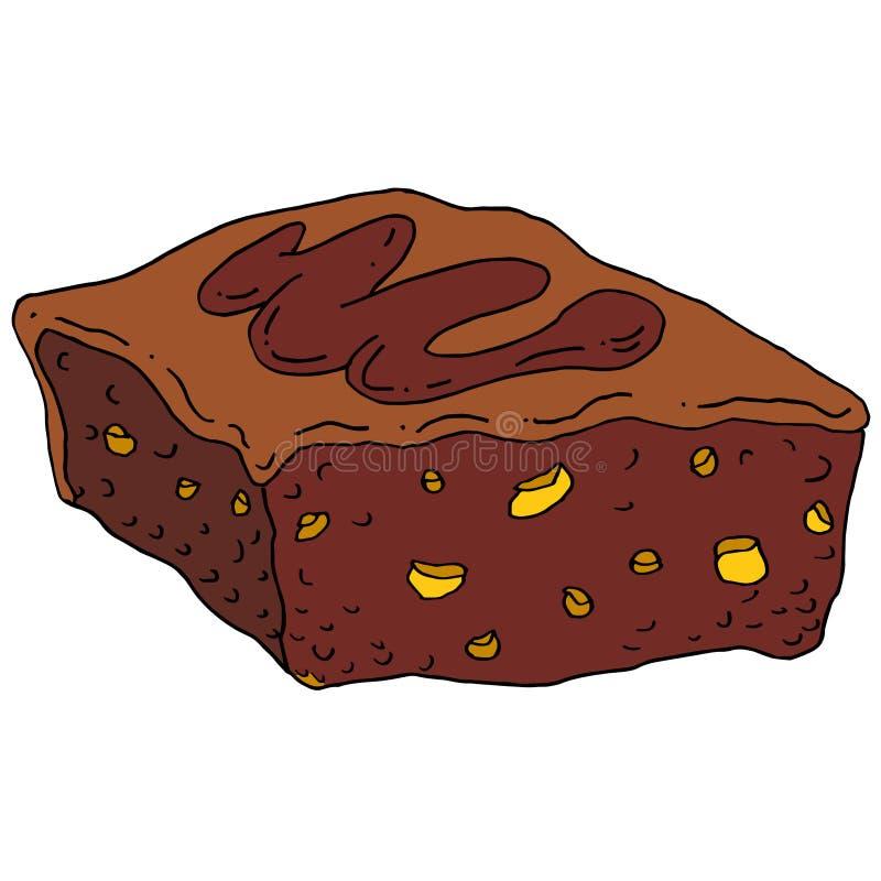 Czekoladowego fudge punkt ilustracja wektor