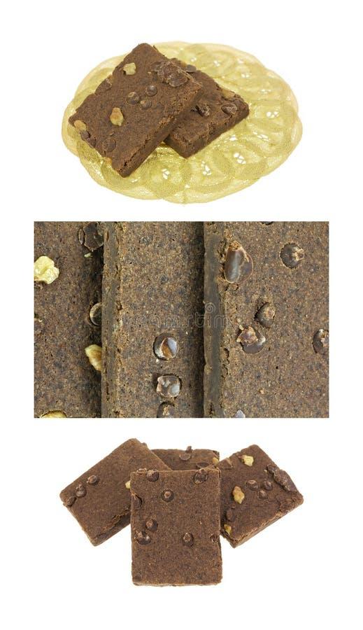 Czekoladowego fudge punkty zdjęcie stock