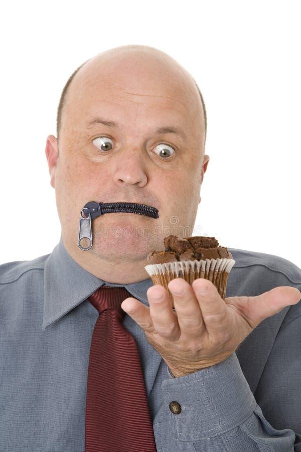 Czekoladowego torta kuszenie zdjęcie stock