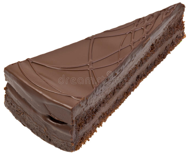 Czekoladowego torta wycinanka obraz royalty free