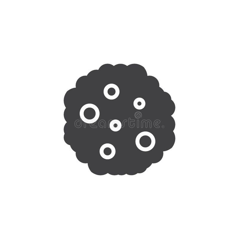 Czekoladowego uk?adu scalonego ciastka wektoru ikona ilustracji
