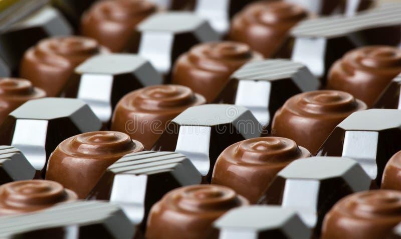 Czekoladowi cukierki obrazy stock