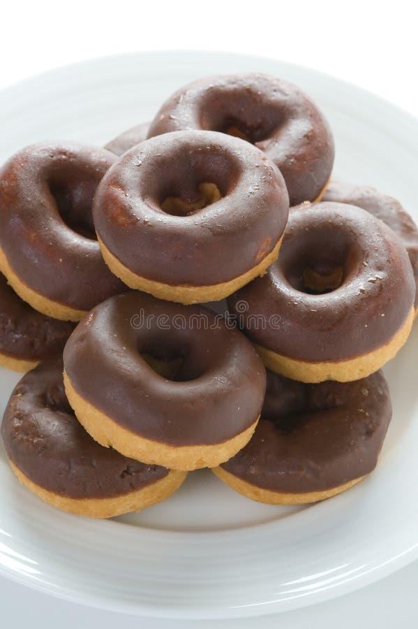 Czekoladowi donuts fotografia royalty free