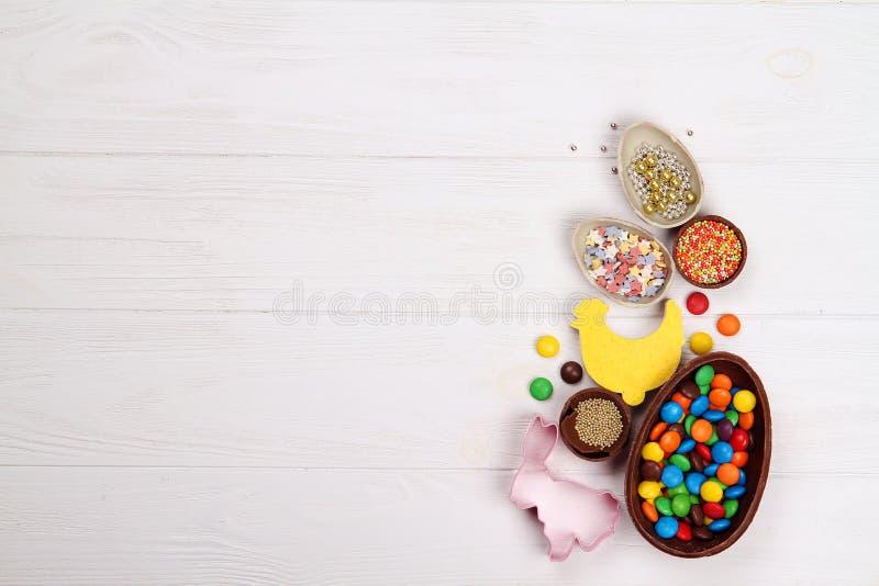 Czekoladowi Easter jajka obrazy royalty free