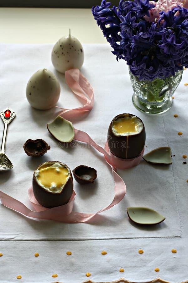 Czekoladowi Easter jajka fotografia stock