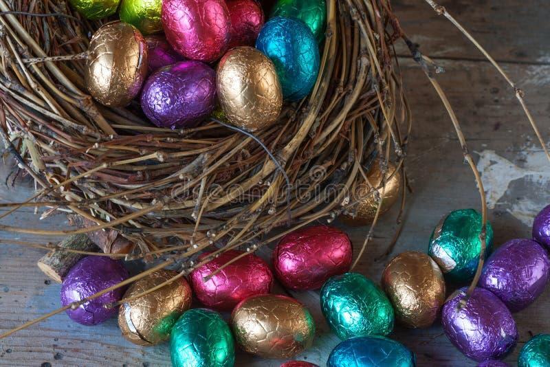 Czekoladowi Easter jajka obraz royalty free