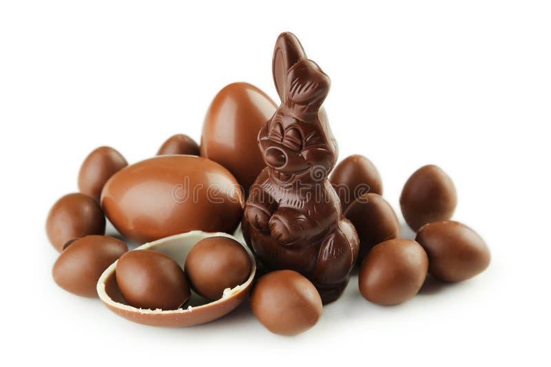 Czekoladowi Easter jajka zdjęcie stock
