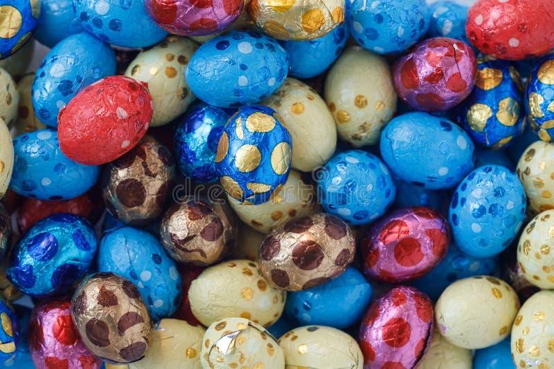 Czekoladowi Easter jajka obraz stock