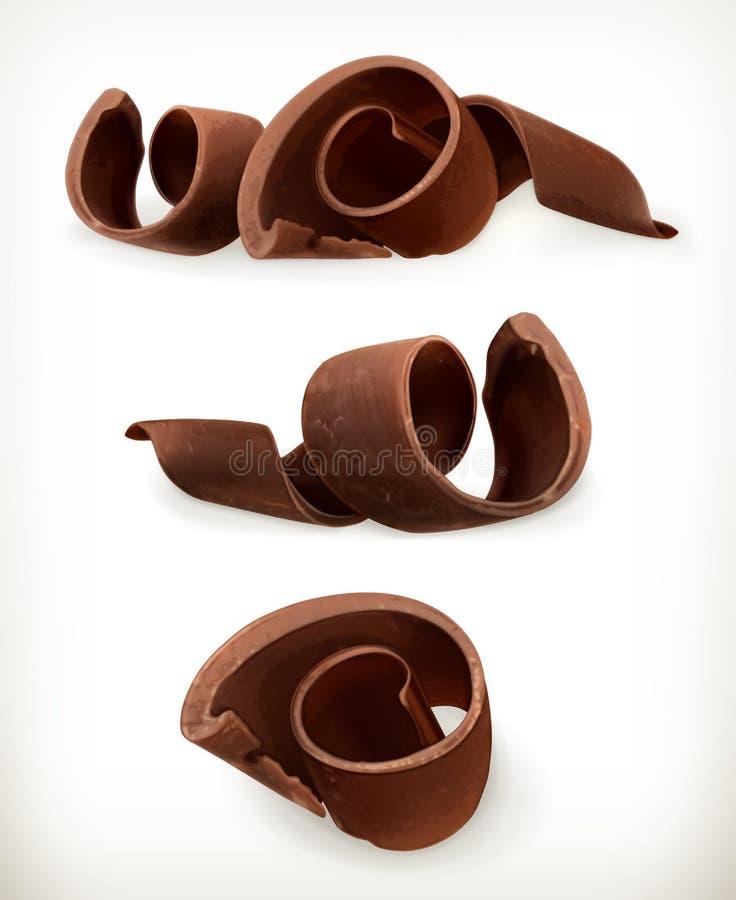 Czekoladowi golenia, czekolada kędzior royalty ilustracja