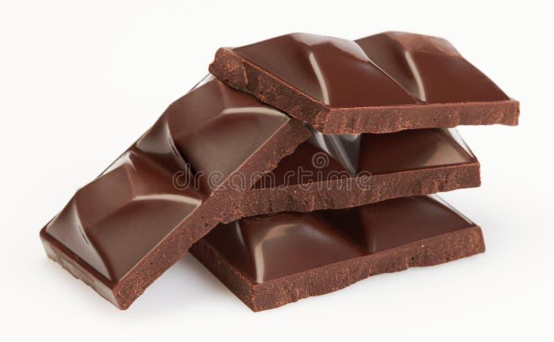 czekoladowi kawałki zdjęcie stock