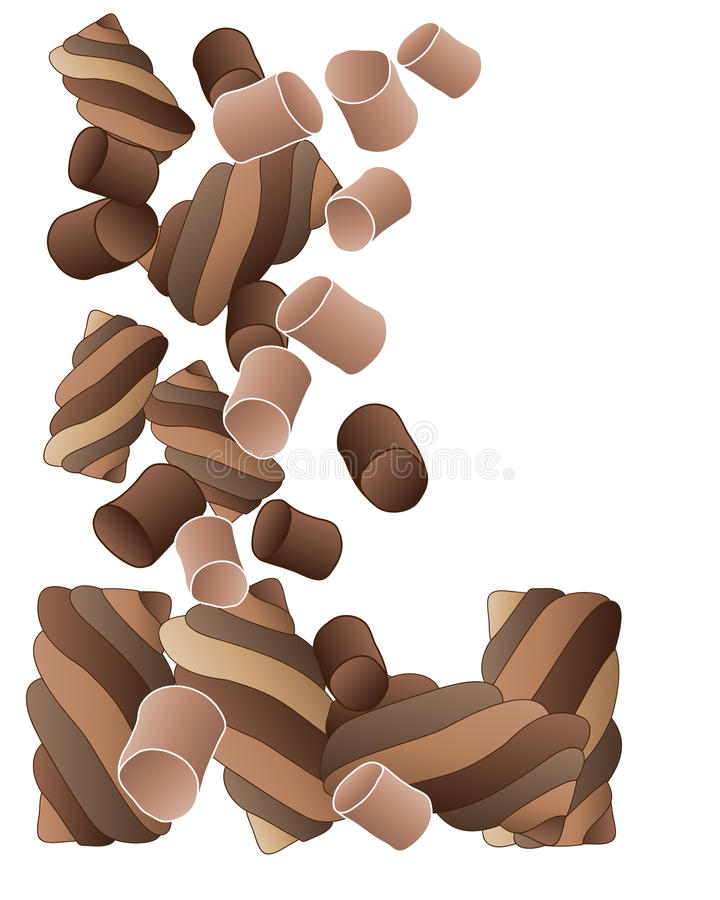 Czekoladowi marshmallows ilustracja wektor