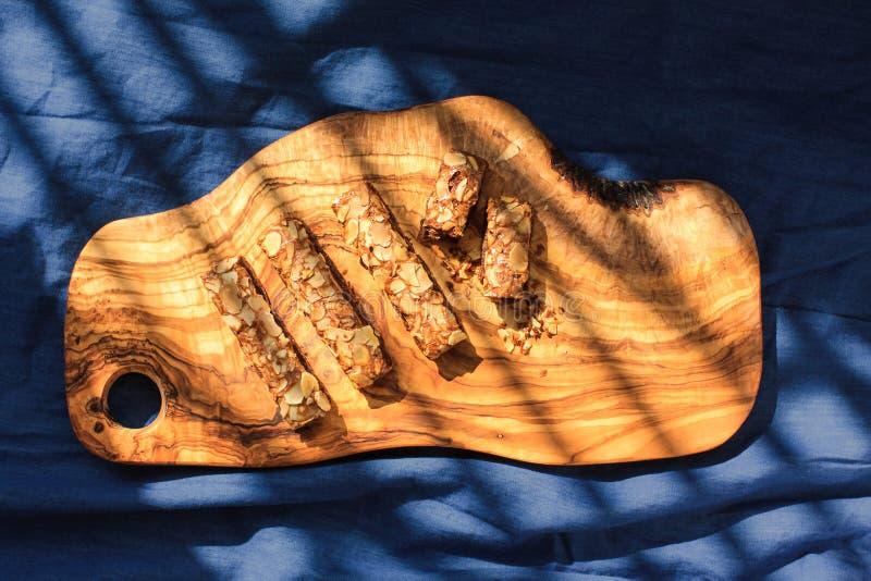 Czekoladowi Migdałowi Crispy ciastka zdjęcie stock