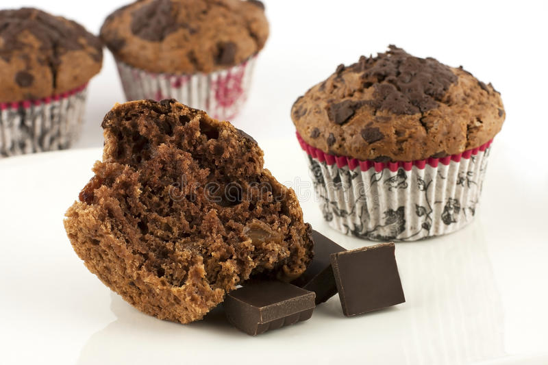 Czekoladowi muffins zdjęcie stock