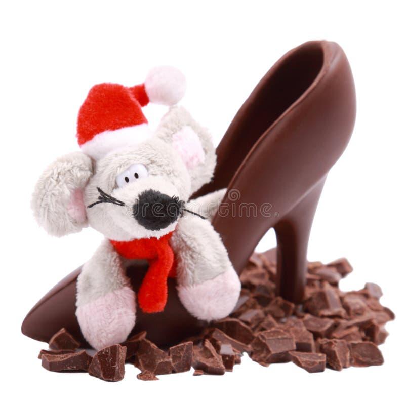 czekoladowi myszy buta plasterki zdjęcie stock