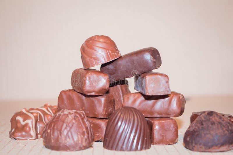 Czekoladowi wakacyjni cukierek słodkości dzieci zdjęcie stock
