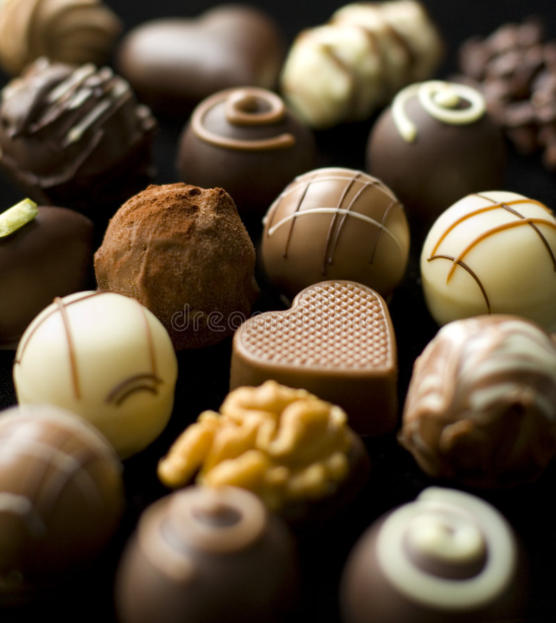 czekoladowi wyśmienicie pralines fotografia royalty free