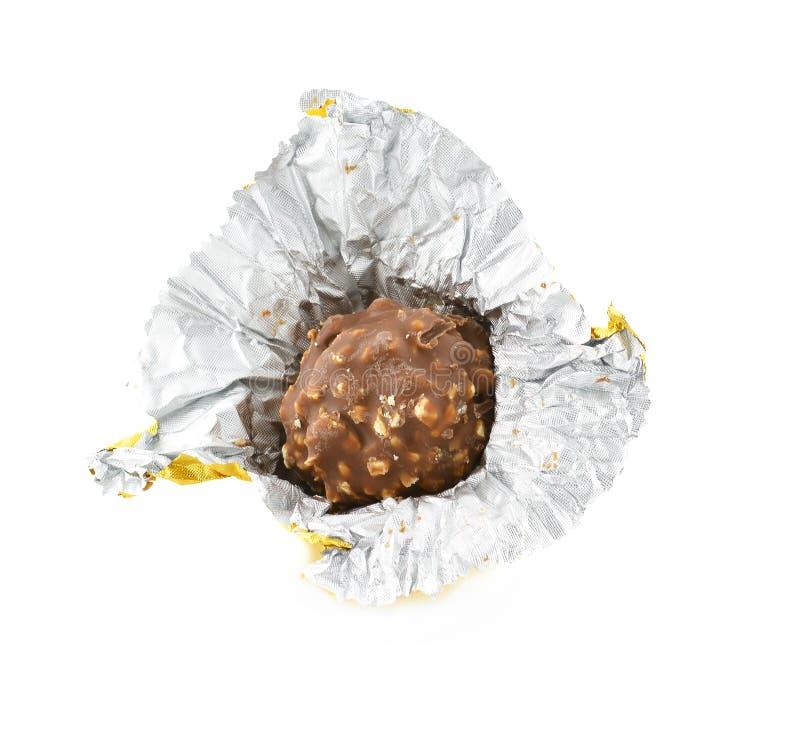 Download Czekoladowy Bonbon Odizolowywający Na Białym Tle Obraz Stock - Obraz złożonej z europejczycy, ciasteczko: 57663231