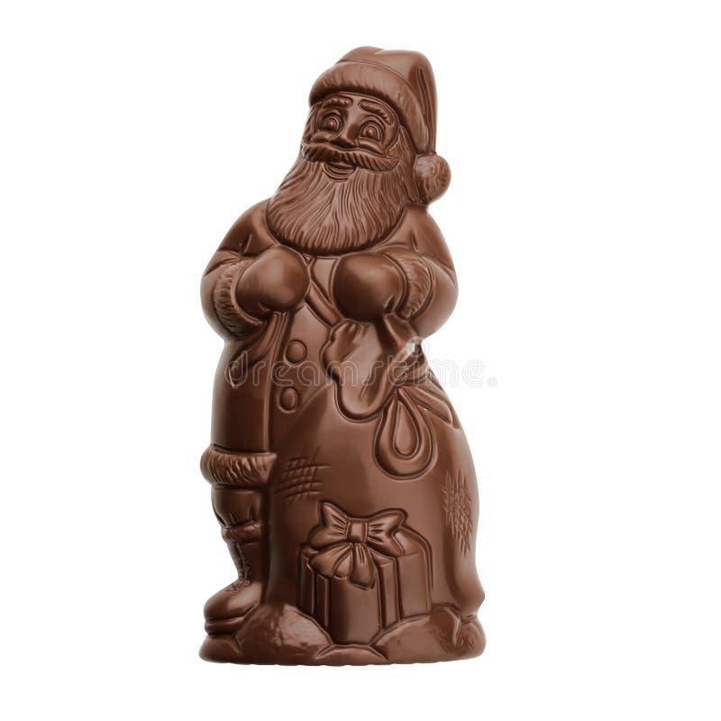 czekoladowy Claus Santa zdjęcia stock