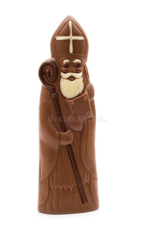 czekoladowy Claus Santa obraz royalty free