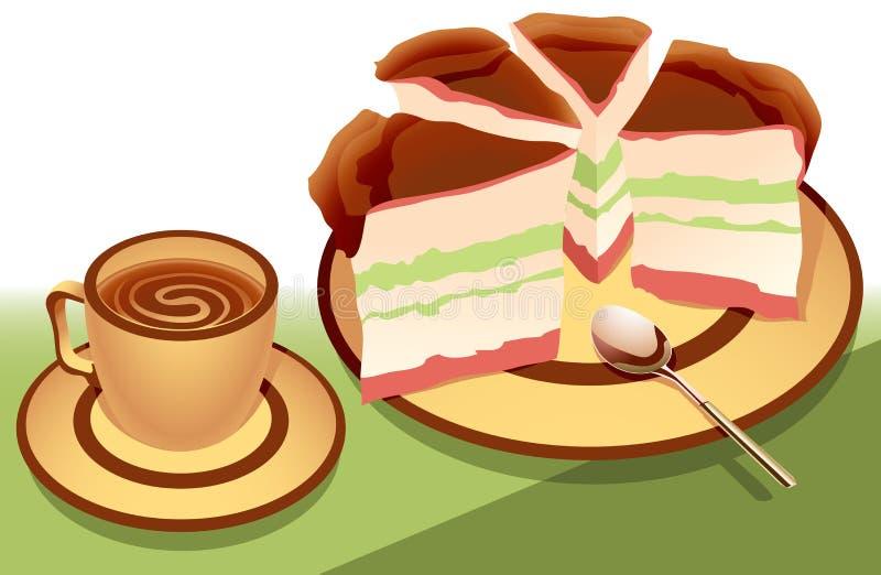 czekoladowy deser royalty ilustracja