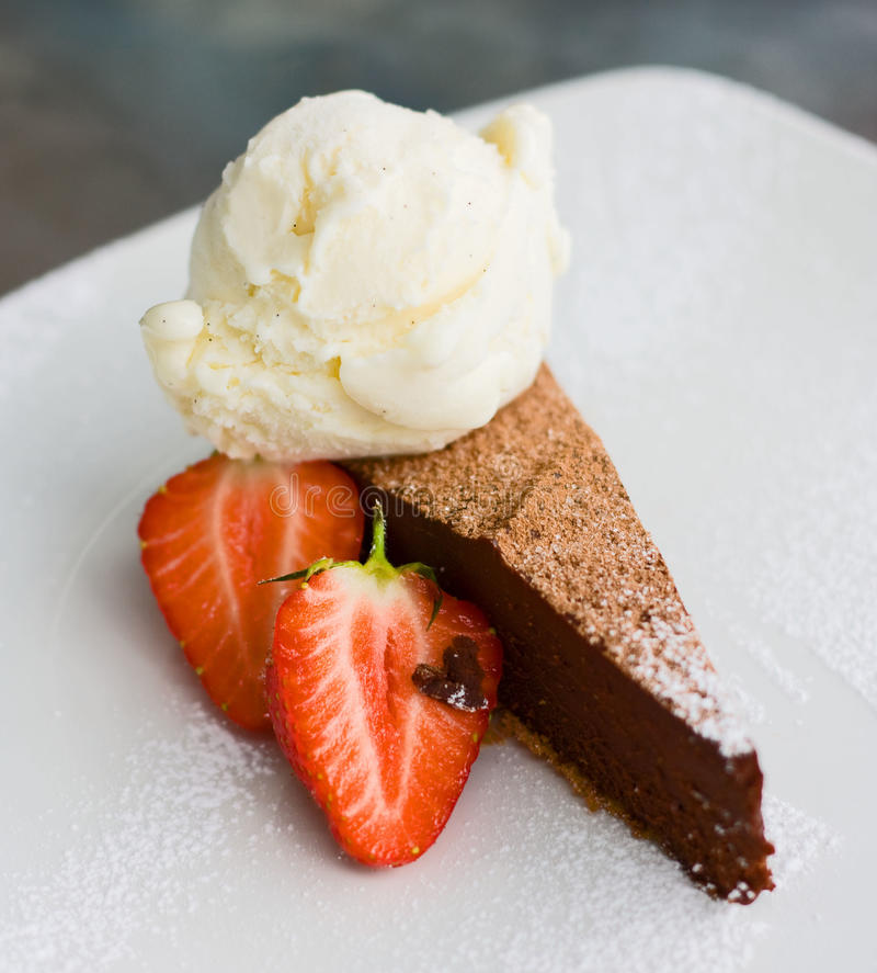 czekoladowy deser obraz stock