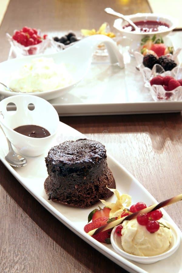 czekoladowy deser ciasto wilgotne fotografia stock