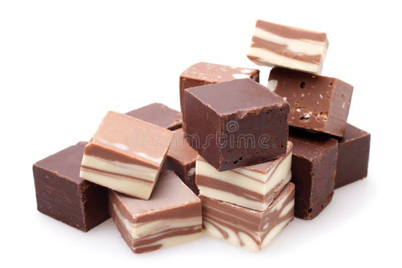 czekoladowy deserowy macro składa cukierki zdjęcia stock