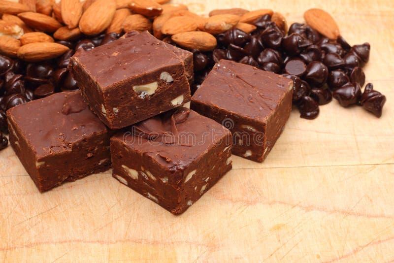 czekoladowy fudge fotografia royalty free