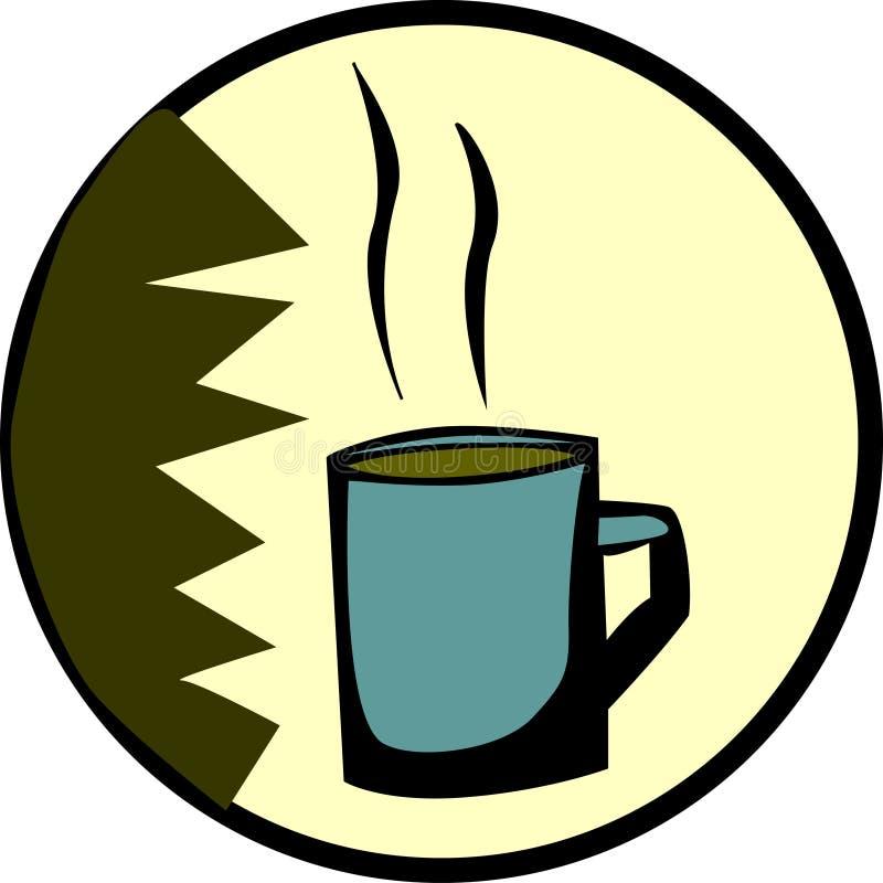 czekoladowy gorąca kawa dostępny kubek herbaty wektora ilustracja wektor
