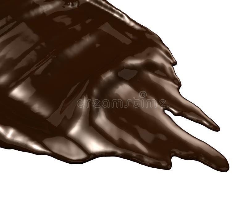 czekoladowy gorący ciecz royalty ilustracja