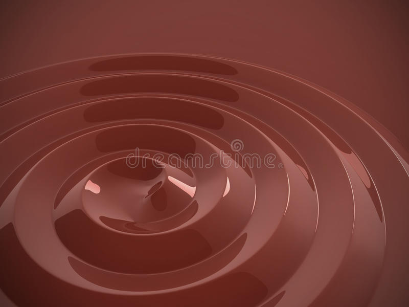 czekoladowy gorący ciekły zawijas ilustracja wektor