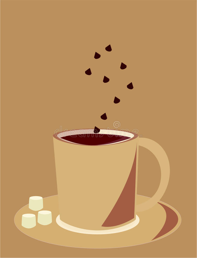 czekoladowy gorący kubek ilustracja wektor