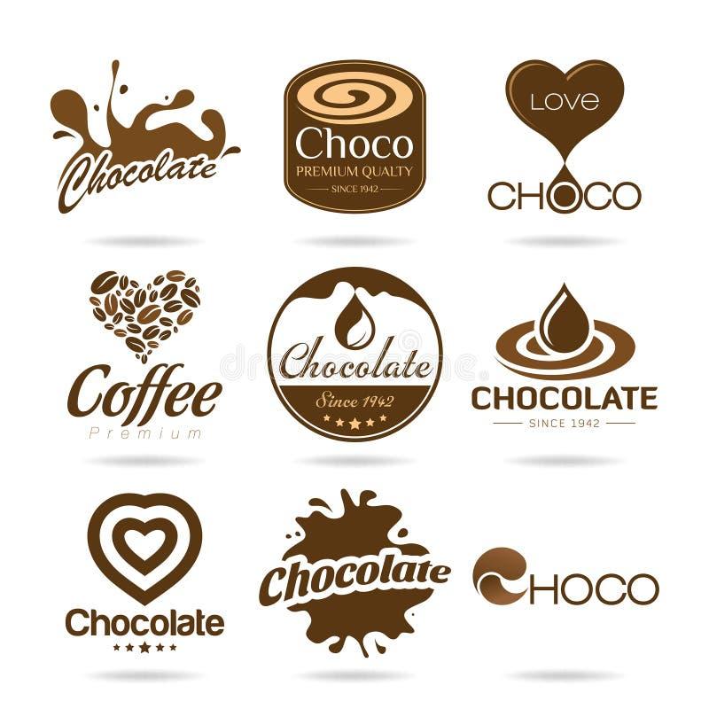 Czekoladowy i kawowy ikona projekt - majcher ilustracji
